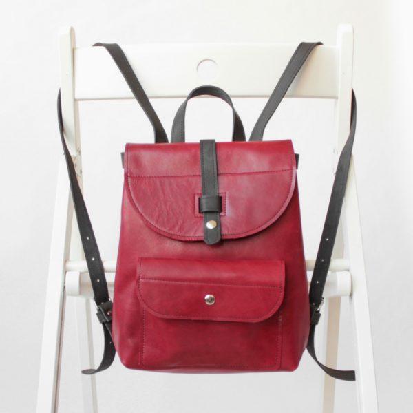 Backpack mini - Клюква и чёрный