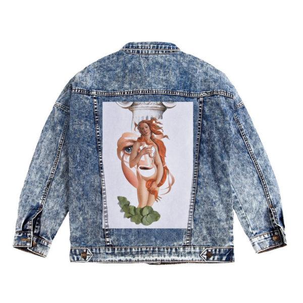 Куртка джинсовая с коллажем Венера