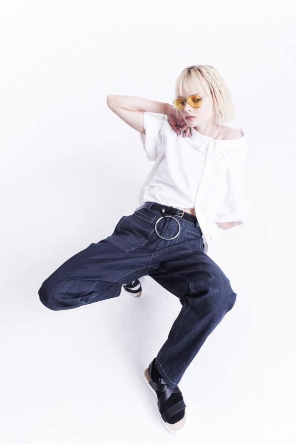 Брюки джинсовые, женские