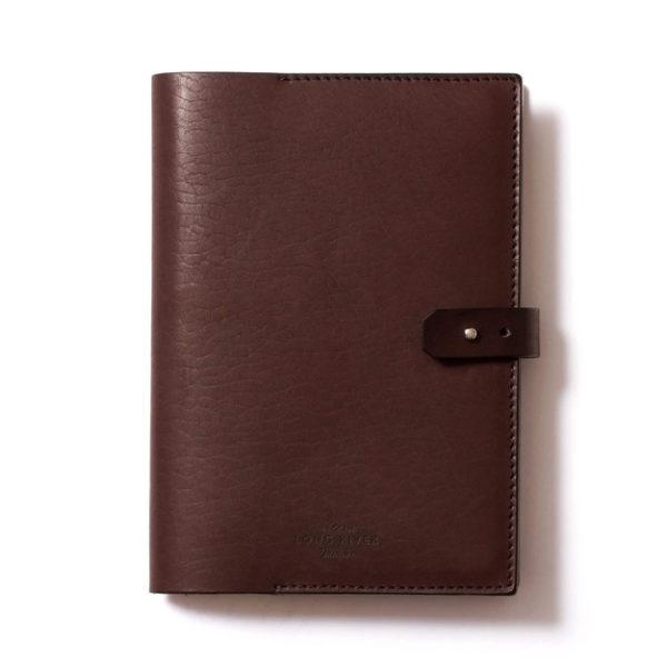 Кожаная коричневая обложка для ежедневника