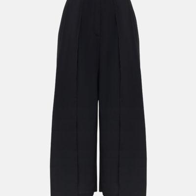 Двухслойные брюки черные