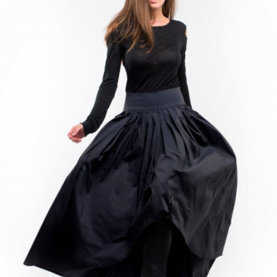 Черная юбка длинная