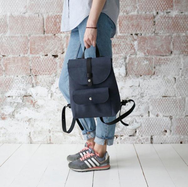 Рюкзак Backpack mini - Тёмно-синий воск