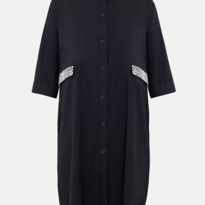 Платье рубашка черное