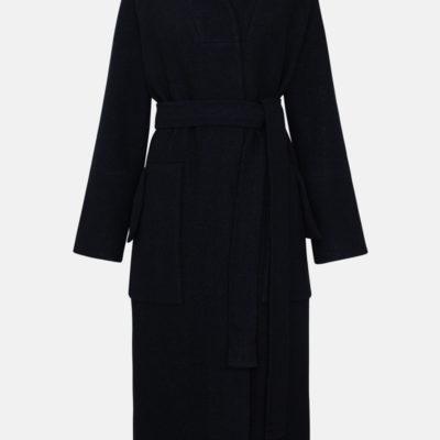 Пальто букле чёрное