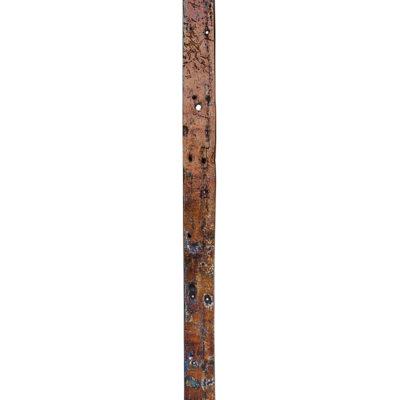Фрагмент корабельного борта 316x18 см., тик