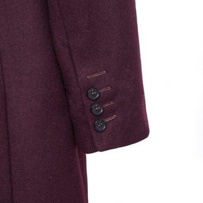 Пальто Однобортное: Бордовый