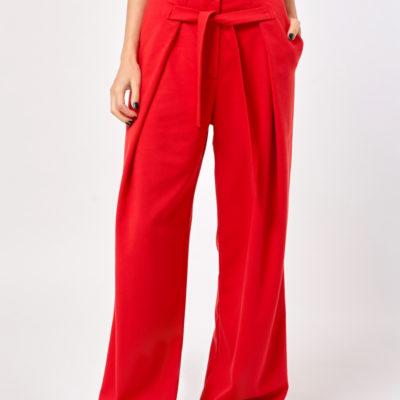 Широкие брюки красные