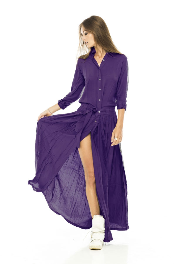 Фиолетовое платье рубашка