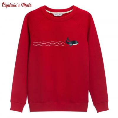 Свитшот Whale red
