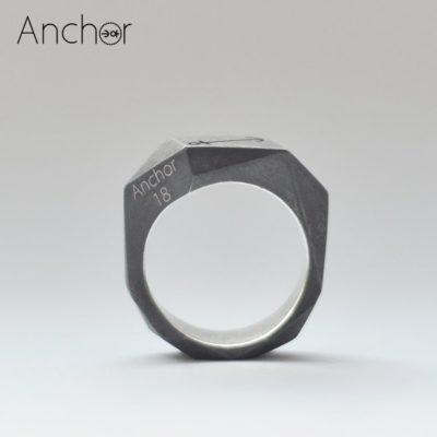 Полигональное кольцо black version