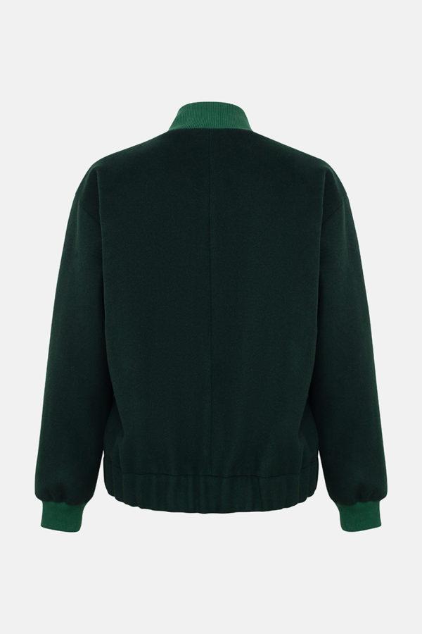Бомбер зеленый
