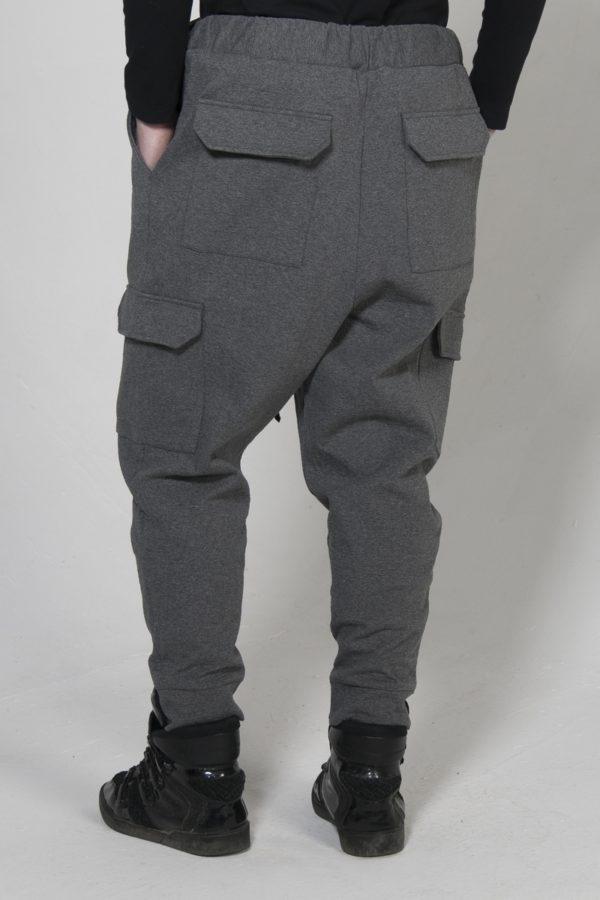 Штаны теплые серого цвета