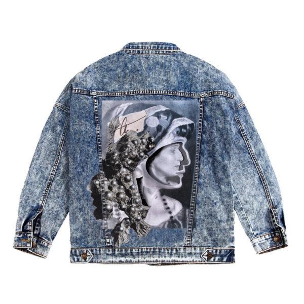 Куртка джинсовая с коллажем Ахматова
