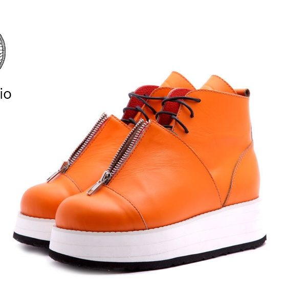 Babochki Shoes Deep Orange на платформе