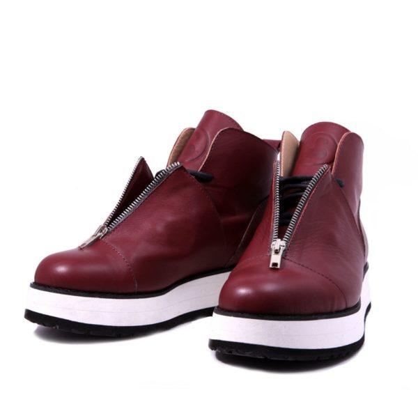 Ботинки Babochki Shoes Bordo на платформе