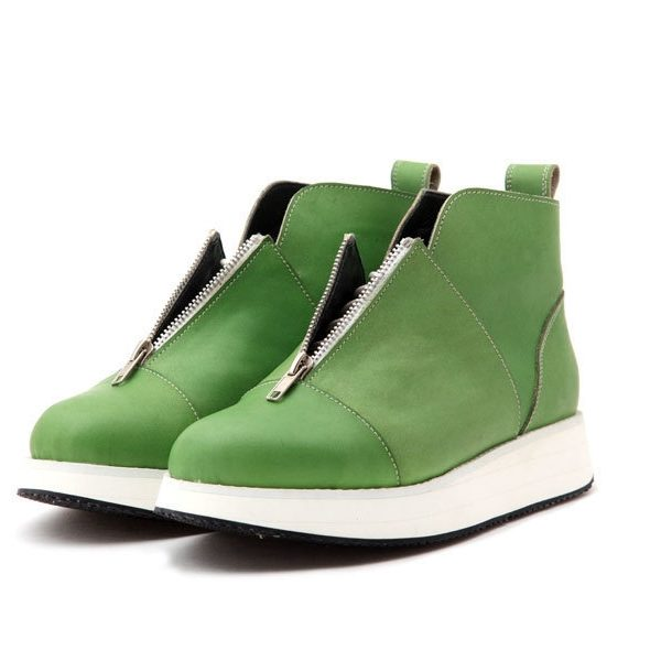 Ботинки Babochki Shoes Green Dye на платформе