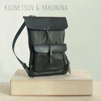 Рюкзак с карманом черный