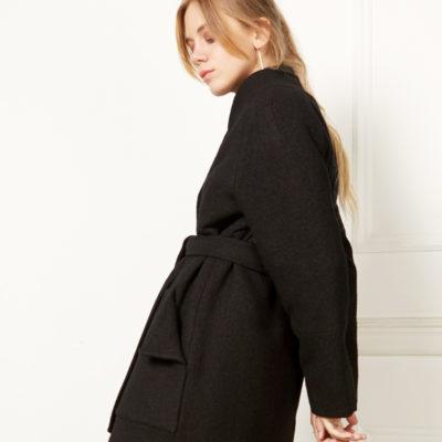 Зимнее пальто черное