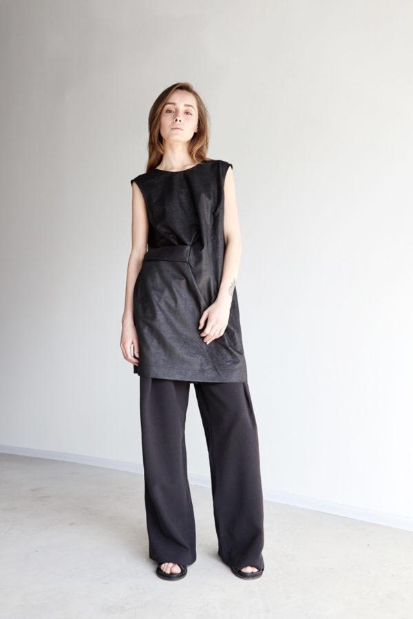 Широкие брюки черные