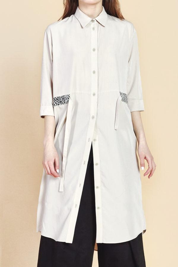 Платье-рубашка светлое