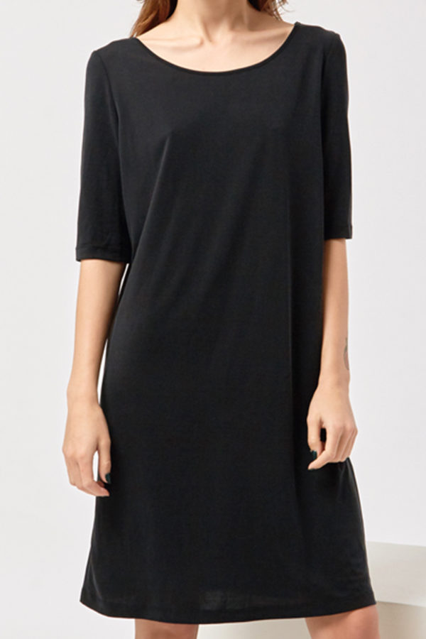 Платье-футболка темное