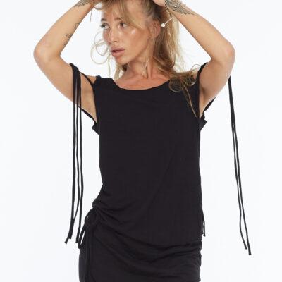 Майка с завязками на плече