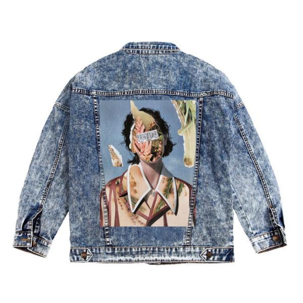 Куртка джинсовая с коллажем Музыка