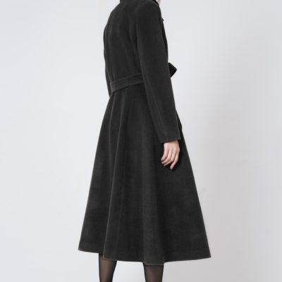 Пальто расклешенное Черное