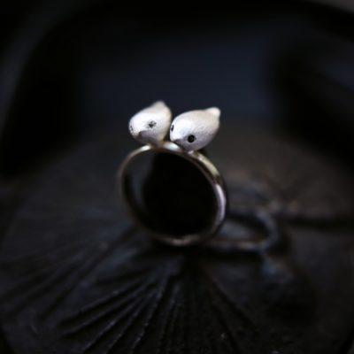 """Кольцо """"Два соловья"""""""