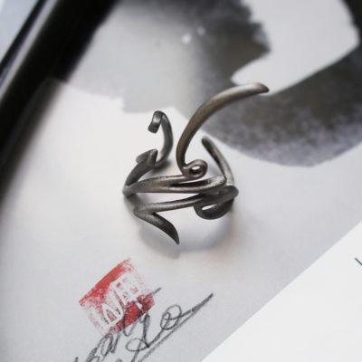 """Кольцо """"Каллиграфия Томо"""""""