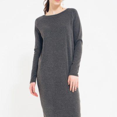 Платье Лапша серого цвета