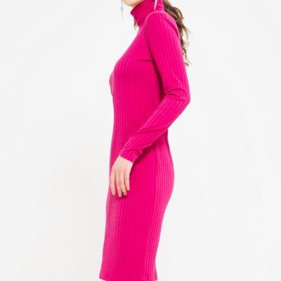 Платье Лапша розового цвета