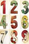 Цифры деревянные