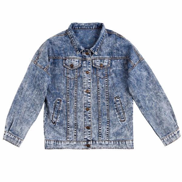 Куртка джинсовая с коллажем Вода