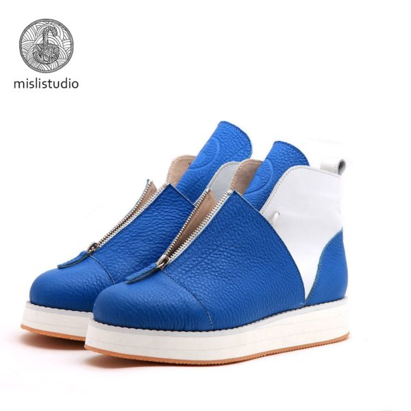Babochki Shoes Blue на платформе