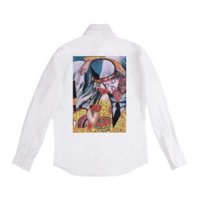 Рубашка белая унисекс Климт и Магритт