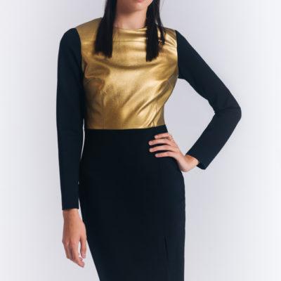 Дизайнерское платье золото