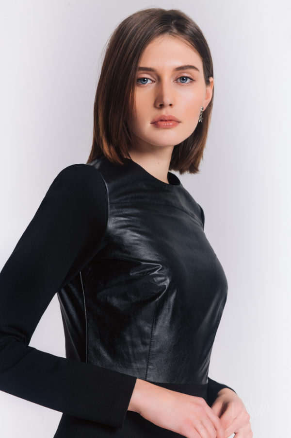 Дизайнерское платье черное