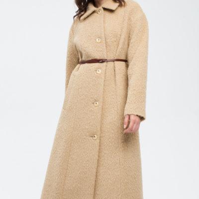Дизайнерское пальто бежевое
