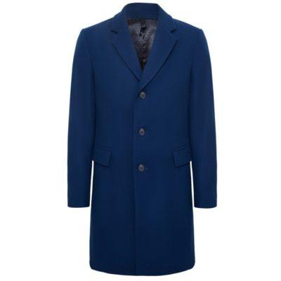 Пальто однобортное: Синий