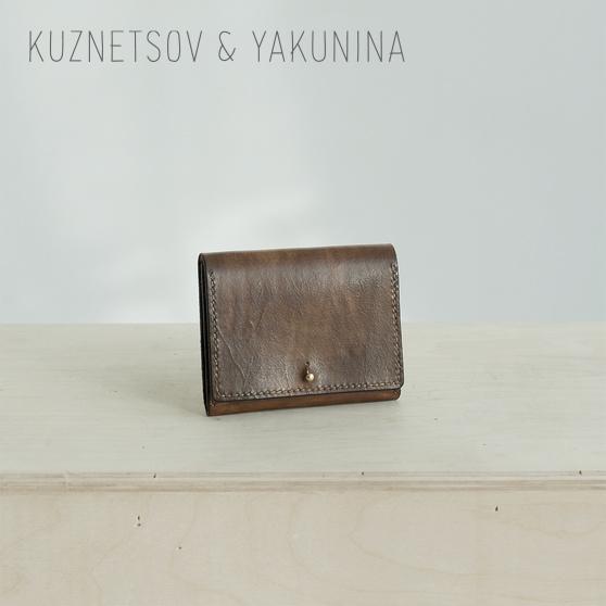 Кожаный кошелек коричневого цвета
