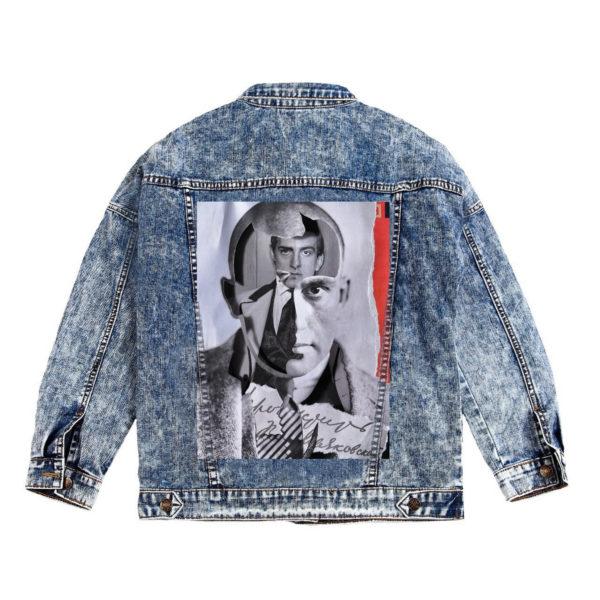 Куртка джинсовая с коллажем Маяковский