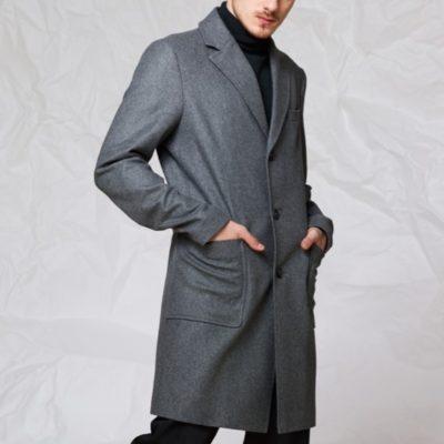 Пальто с накладными карманами: Серый