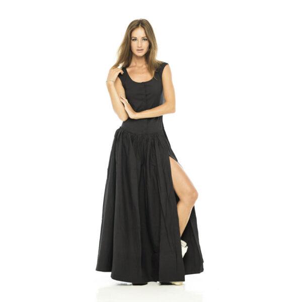 Платье из чёрного хлопка