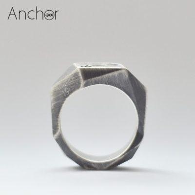 Полигональное кольцо scratched version