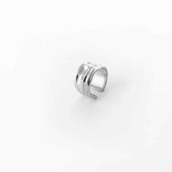 """Незамкнутое кольцо """"Ткань"""" (серебро 925-й пробы)"""