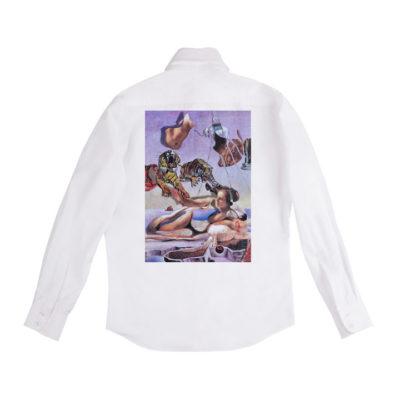 Рубашка белая унисекс Дали и Рембрандт