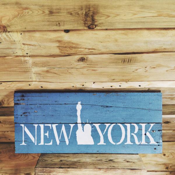 Деревянная табличка на стену New York