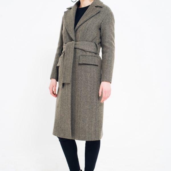 Зимнее пальто шерстяное